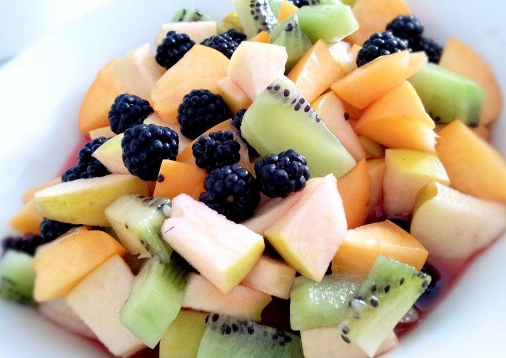 Colorful fresh fruit salad