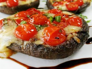 portabello stuffed caprese mushrooms