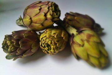 5 fresh artichokes