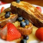 french toast strawberries blueberries
