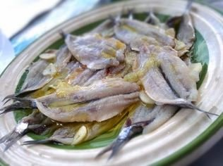 Marinated anchovies – an Italian antipasto