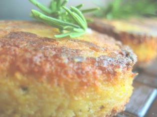 Cheese and herb polenta cakes
