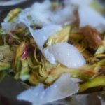 raw artichoke salad