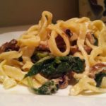 spinach pancetta fettuccine