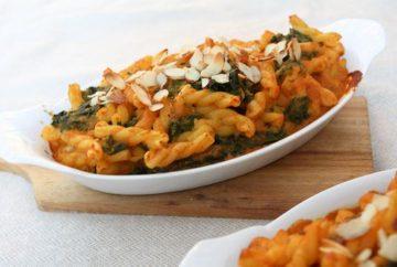 baked kale pumpkin pasta